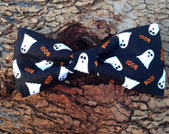 Bow Tie or Flower Collar Attachment & Accessory for Dogs and Cats / HALLOWEEN Ghosts