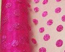 Organza Glitter Dots Gift Wrap Roll, 19-inch, 5-yard