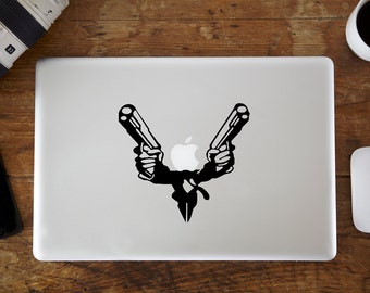 Suit With Guns MacBook Decal