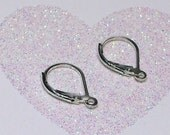 Two (2) .925 Sterling Silver 16mm x 11mm LEVERBACK Ear Wires with Open Loop