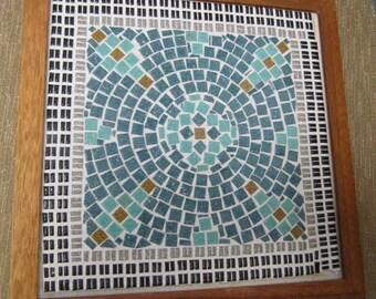 Mosaic in wood frame