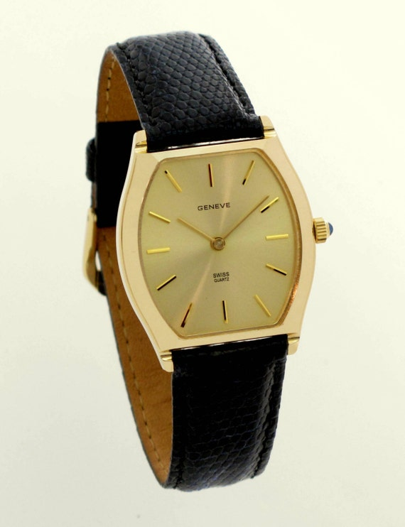 14k gold geneve lonsdale mens swiss