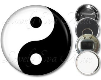 Yin Yang Pocket Mirror, Refrigerator Magnet, Yin Yang Bottle Opener Key Ring, Pin Back Button, Compact Mirror, Small Gifts, Purse Mirror