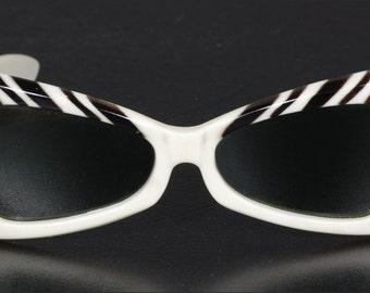 Vintage Black and White Sunglasses