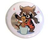 Rocket & Groot Boogie - 1.5 inch Button / badge