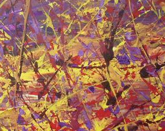 Stay or Go, 12x40x1.5, Acrylic on canvas, ©AbstractionsbyRonda - All Rights Reserved