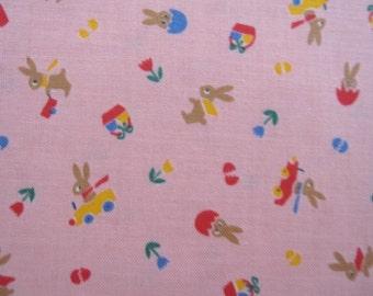 Fat Quarter of Minny Muu Tiny Rabbit by Lecien, Made in Japan.
