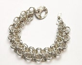 Handmade Sterling Silver Chainmaille Bracelet