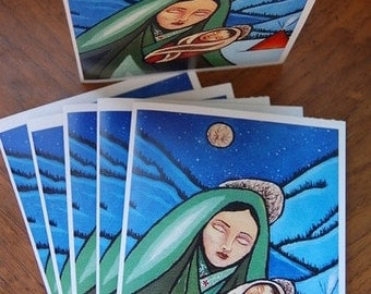 Set of 6 blank greeting cards, printed in Mexico, includes envelopes