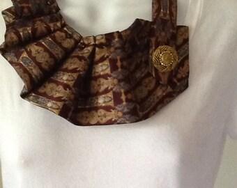 Upcycled men's necktie scarf