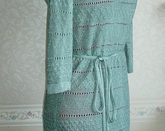 Knitted dress of silk