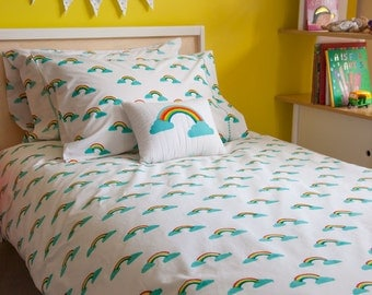 Rainbow single duvet cover