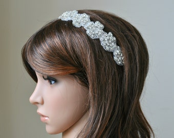 Wedding headpiece, headband, BRIANNE, Rhinestone Headband, Wedding Headband, Bridal Headband, Bridal Headpiece, Rhinestone