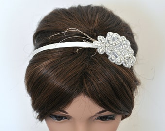 Wedding headpiece, headband, PAMELLA, Rhinestone Headband, Wedding Headband, Bridal Headband, Bridal Headpiece, Rhinestone
