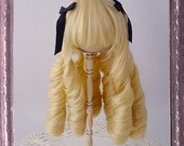 4.5 - 5inch Doll Wig // Classical Curl - Banana Whip // Monster High, Petite Hime, xagadoll Gold, Bisque doll, bjd... // 4.5m01-banana