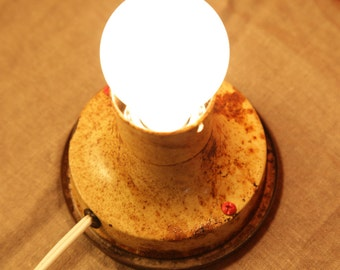Rusty Work Light Table Lamp/ Wall Sconce