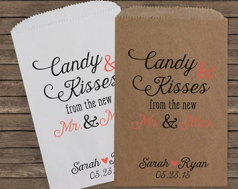 wedding fall wedding popcorn bags custom wedding favors candy bags