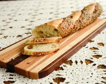 Long Bread Cutting Board, Made in Montana, Reclaimed Wood, Wood Cutting Boards, Epicurian Cutting Board, Butcher Block Cutting Board