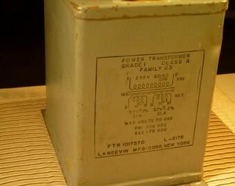Vintage Langevin Naval Power Transformer Model L-2178