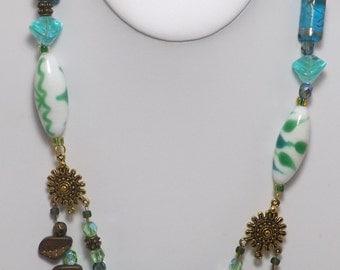 Beautiful Blue Lake Echos Necklace