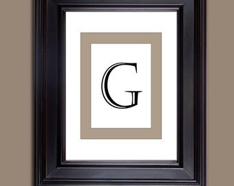 Monogram Prints - Letter Prints - Download only - Letter G  10 x 8 and 11 x 14
