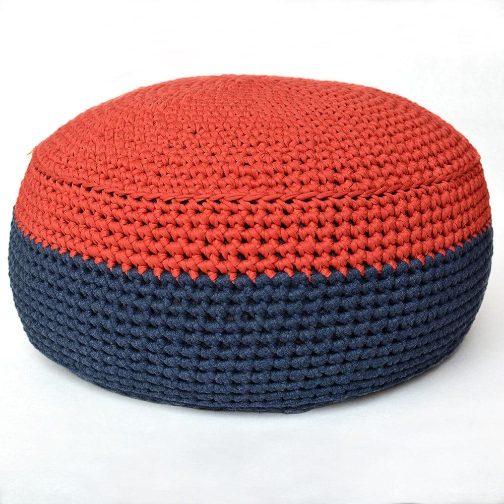 Handmade Crochet Cotton Mini Bean bag Pouf Ottoman