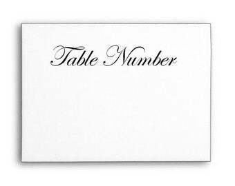 Table Number Stamp, Rubber Stamp, Card Stamp, Wood Handle or Self Inking