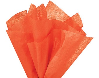 ORANGE Tissue Paper 24 Sheets Premium Tissue Paper for Craft Projects, Gift Wrapping, and DIY