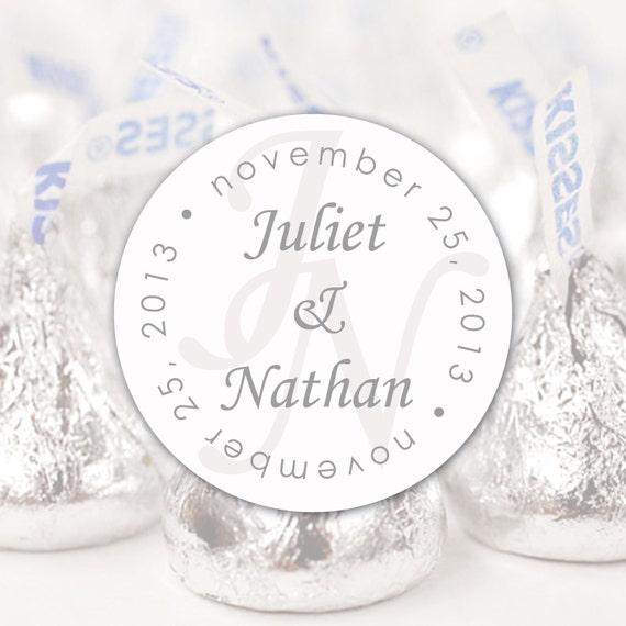 Wedding Chocolate Kisses Label