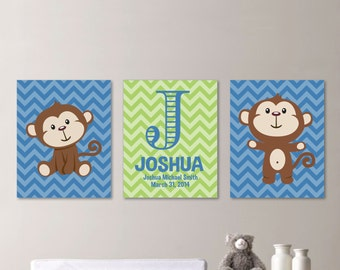 Monkey Bedroom Decor Monkey Nursery Decor  Etsy