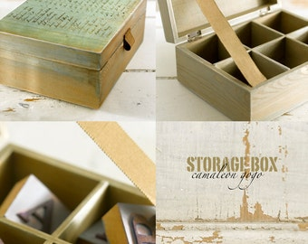 stained wooden box cover decoupage