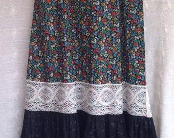 RARE Genuine 80s Gunne Sax Jessica McClintock Long Maxi Skirt