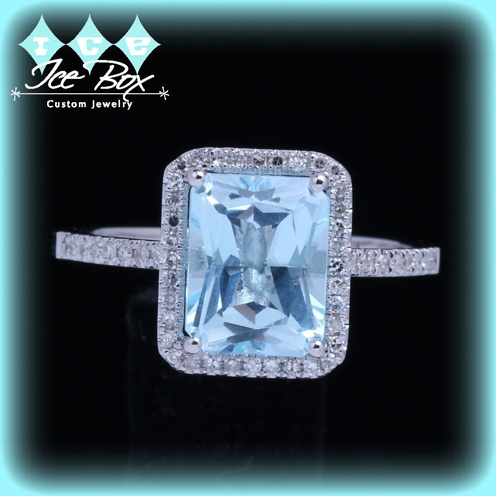 2 5ct emerald cut aquamarine engagement ring in a by