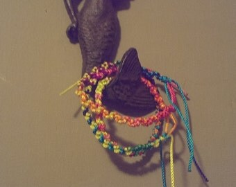 Rainbow wave friendship bracelet