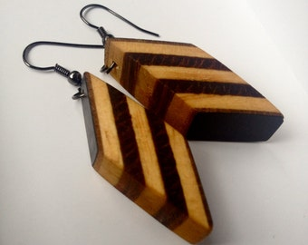 Recycled Plywood Earrings