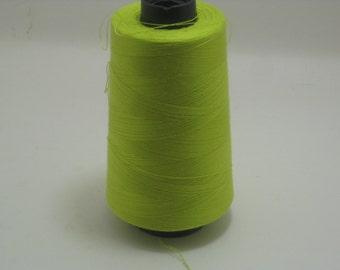 Lime Green Sewing Thread 5000yd Cone, General Use Polyester Thread  sku9338