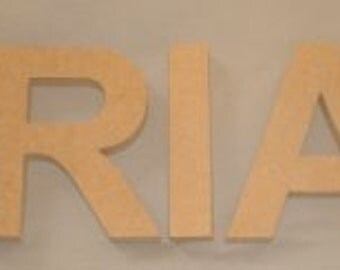 """MDF 1/2"""" thick Arial 5"""" to 11"""" Individual Wooden Letters Numbers"""