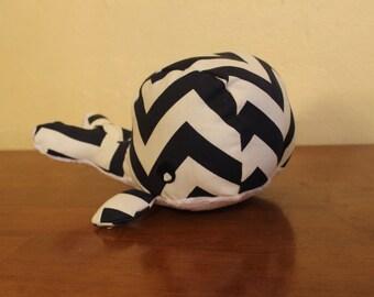 CHOOSE your CHEVRON stuffed whale plushie/mursery decor