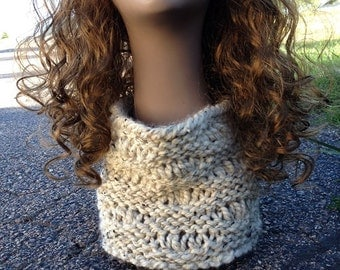 Cove Beach Cowl --  a loom knit pattern