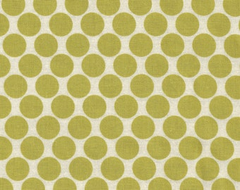 Lotus Collection by Amy Butler-- Full Moon Polka Dot in Lime Fabric-- By the yard-- AB13