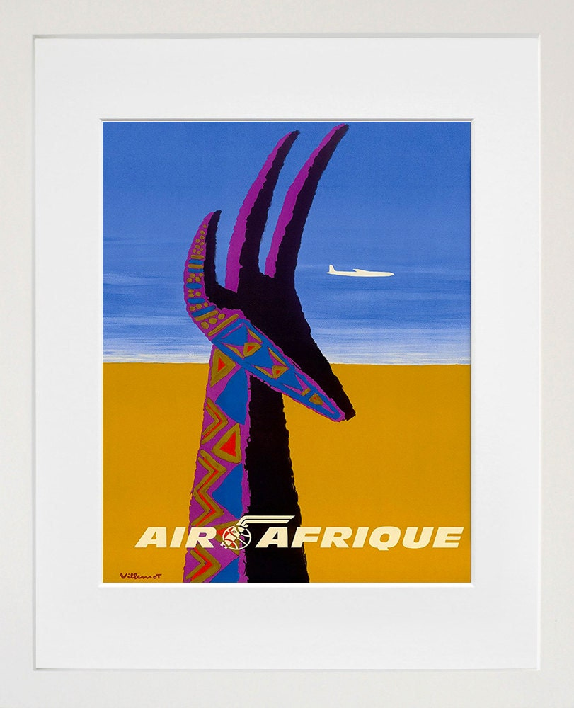 Africa Travel Poster African Vintage Art Print By Blivingstons