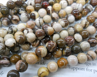 8mm agate round beads, 15.5 inch