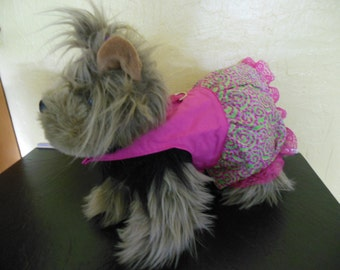 Adorable Pet dress with lace trim