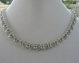 Helm weave chainmaille necklace, Chainmail necklace, Chain mail necklace, chain maille necklace