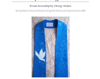 PDF DOWNLOAD-- Clergy Stole Pattern and Instructions for Tapered Style Stole -- Scroll down for answers to your questions