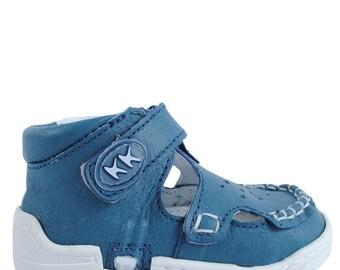 Sailor-Blue baby sandals