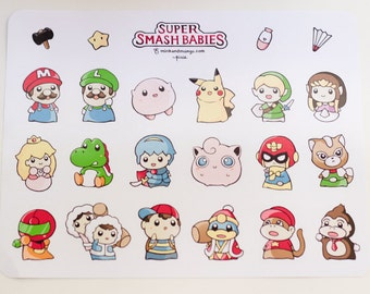 Super Smash Babies Stickers