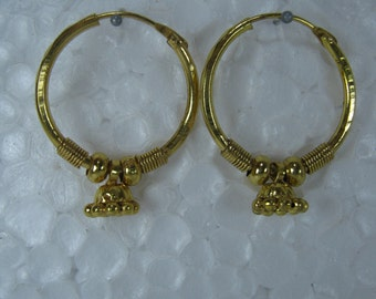 Dangle Hoop Earrings, Gold Hoop Earring for Her
