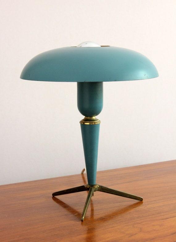 items similar to vintage philips louis kalff mid century desk lamp 1950 39 s on etsy. Black Bedroom Furniture Sets. Home Design Ideas