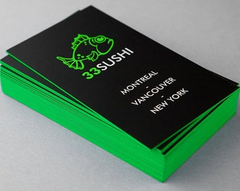 500 Color Painted Edge Business Cards THICK matte paper
